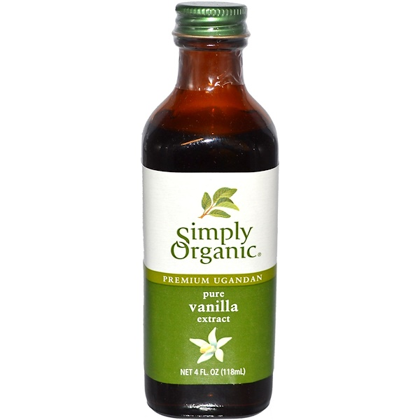 Simply Organic, Premium Ugandan Pure Vanilla Extract, Farm Grown , 4 fl oz (118 ml) (Discontinued Item)