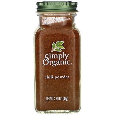 Simply Organic Порошок чили, 2.89 унций (82 г)