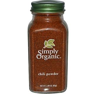 Simply Organic, チリパウダー, 2.89オンス (82 g)