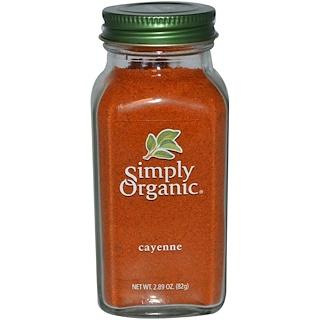 Simply Organic, カイエンペッパー, 2.89オンス (82 g)