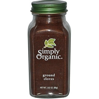Simply Organic, Ground Cloves, 2.82 oz (80 g)