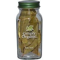 Simply Organic, 베이 리프 (월계수 잎), 0.14 oz (4 그램)
