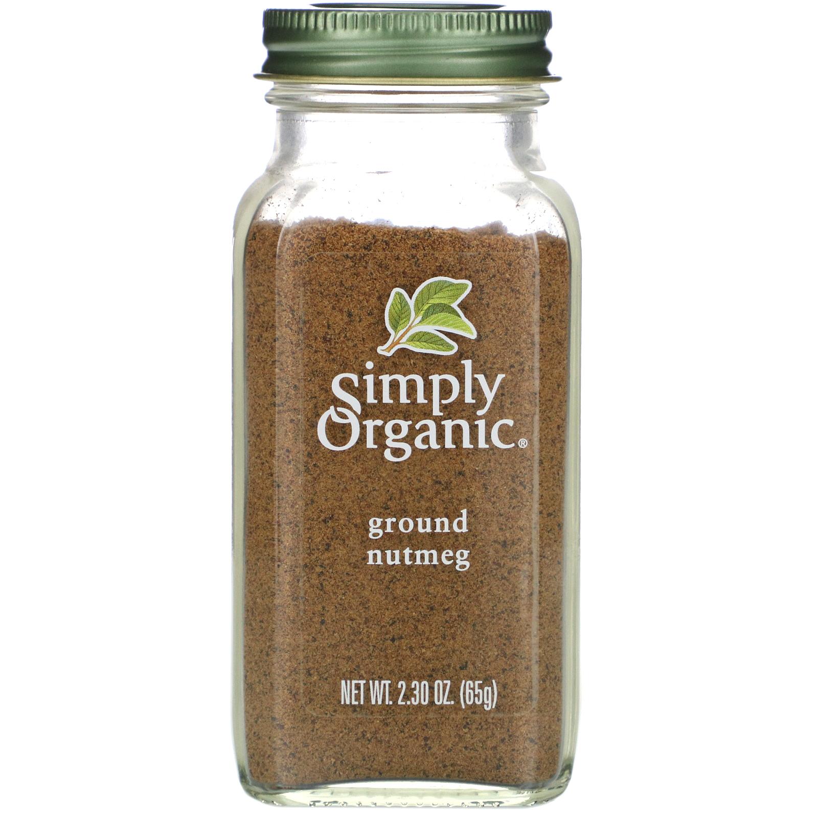 Simply Organic جوزة الطيب مطحونة 2 30 أونصة 65 جم Iherb