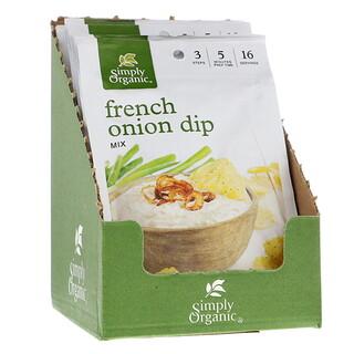 Simply Organic, Mélange pour sauce à l'oignon française, 12 paquets, 1.10 oz (31 g) chacun
