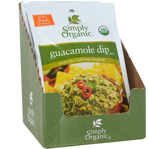 Simply Organic, Смесь для соуса гуакамоле, 12 пакетиков по 0.8 унций (22.7 г)