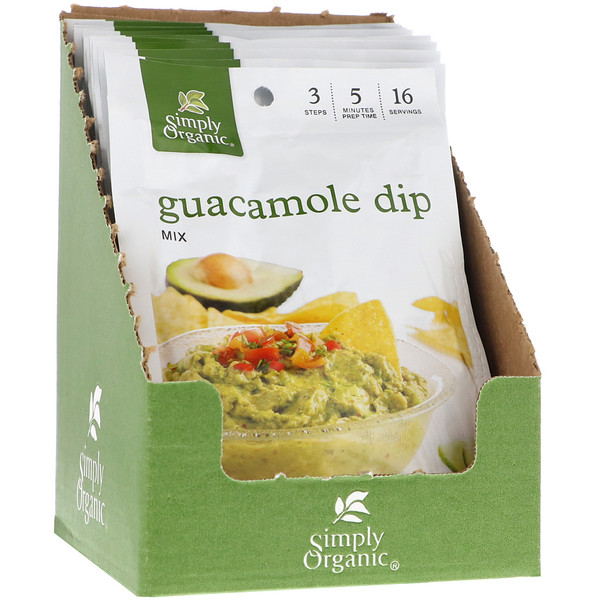 Simply Organic, Guacamole Dip Mix, 12 Packets, 0.8 oz (23 g) Each (Discontinued Item)
