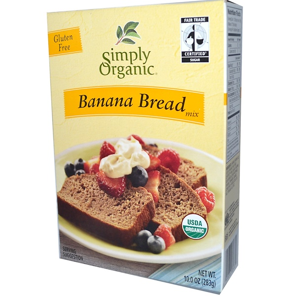 Simply Organic, Banana Bread Mix, 10.0 oz (283 g) (Discontinued Item)