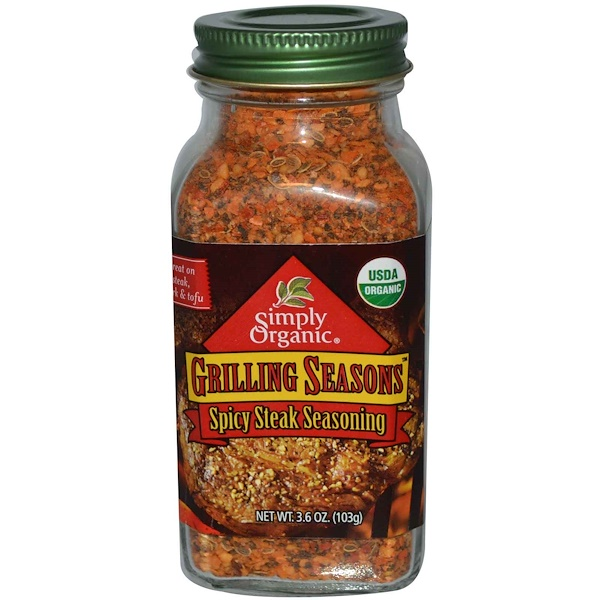 Simply Organic, Grilling Seasons, Spicy Steak Seasoning, 3.6 oz (103 g) (Discontinued Item)