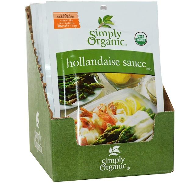 Simply Organic, Голландский соус 12 пакетиков, 1.00 унции (28 г) каждый (Discontinued Item)