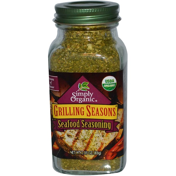 Simply Organic, Grilling Seasons, Seafood Seasoning, 2.93 oz (83 g) (Discontinued Item)
