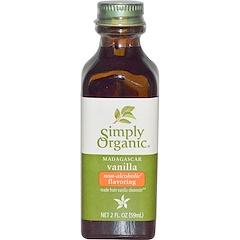 Simply Organic, マダガスカルバニラ, アルコール含まないフレーバー, 農場栽培,  2 液量オンス (59 ml)