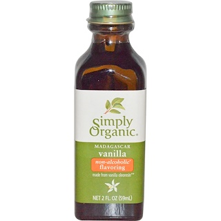 Simply Organic, Madagascar Vanilla, Non-Alcoholic Flavoring, Farm Grown , 2 fl oz (59 ml)