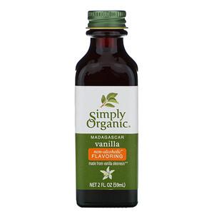 Симпли Органик, Madagascar Vanilla, Non-Alcoholic Flavoring, Farm Grown , 2 fl oz (59 ml) отзывы