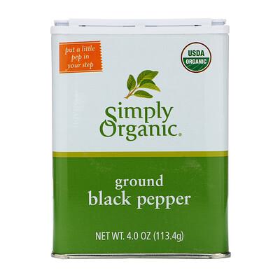 Купить Simply Organic Молотый черный перец, 113, 4 г (4 унции)