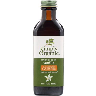 Мадагаскарская ваниль, безспиртовой ароматизатор, выращено на ферме, 4 жидких унции (118 мл)