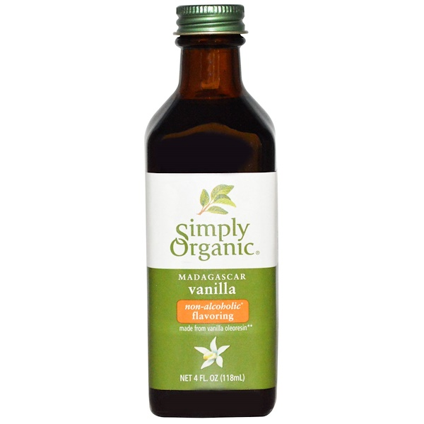 Simply Organic, Madagascar Vanilla, Non-Alcoholic Flavoring, Farm Grown , 4 fl oz (118 ml)