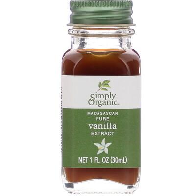 Купить Simply Organic Madagascar Pure Vanilla Extract, 1 fl oz (30 ml)