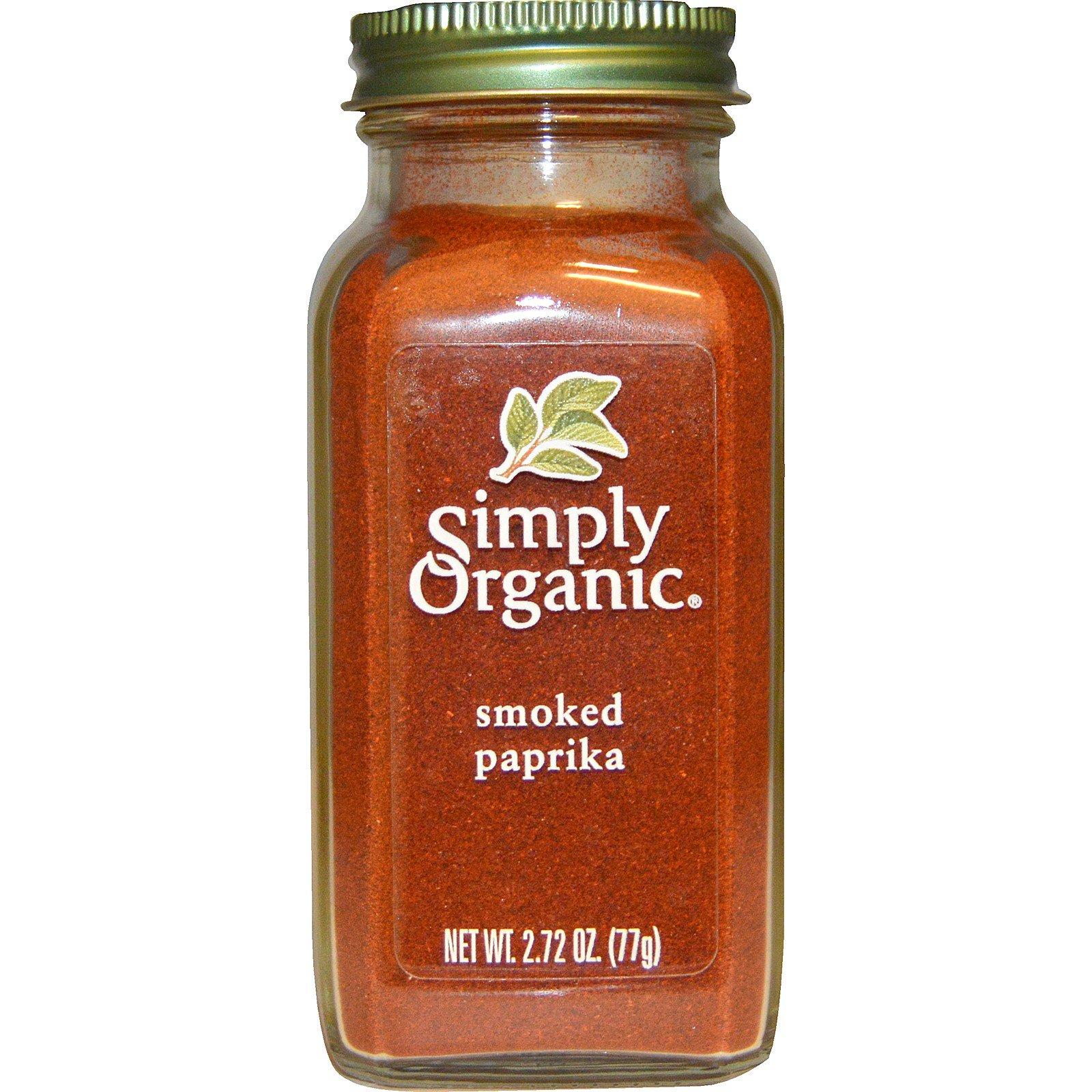 Simply Organic, Органическая копченая паприка, 77 г