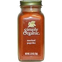 Simply Organic, 유기농 훈제 파프리카, 2.72 oz (77 g)