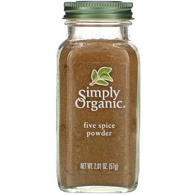 Купить Simply Organic Порошок Five Spice, 2.01 унции (57 г)