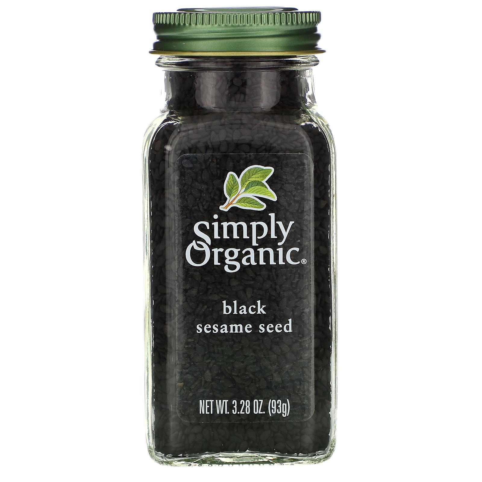 Simply Organic بذور السمسم السوداء العضوية 3 28 أونصة 93 جم Iherb