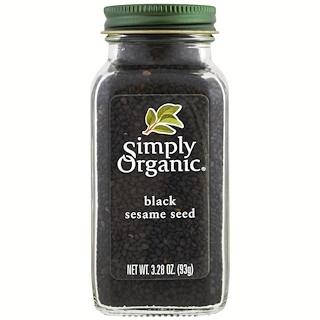 Simply Organic, Orgánico, semilla de sésamo negro, 3.28 oz (93 g)
