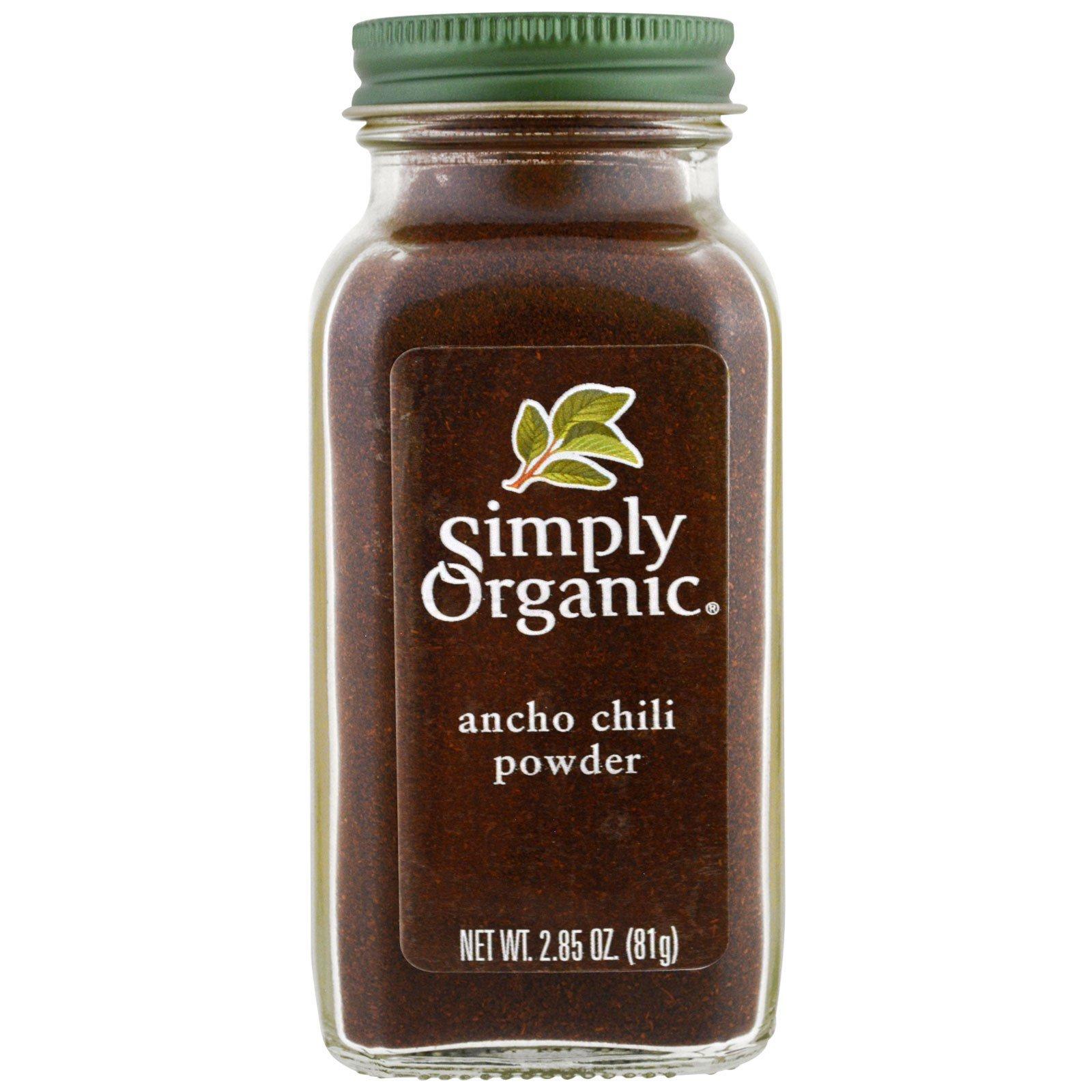 Simply Organic, Органический, порошок перца поблано, 2,85 унц. (81 г)