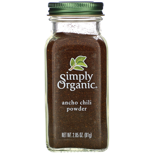 Simply Organic, Organic, Ancho Chili Powder, 2.85 oz (81 g) (Discontinued Item)