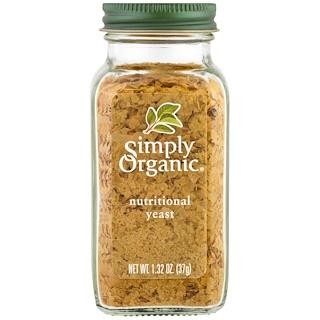 Simply Organic, Органические, питательные дрожжи, 1,32 унц. (37 г)