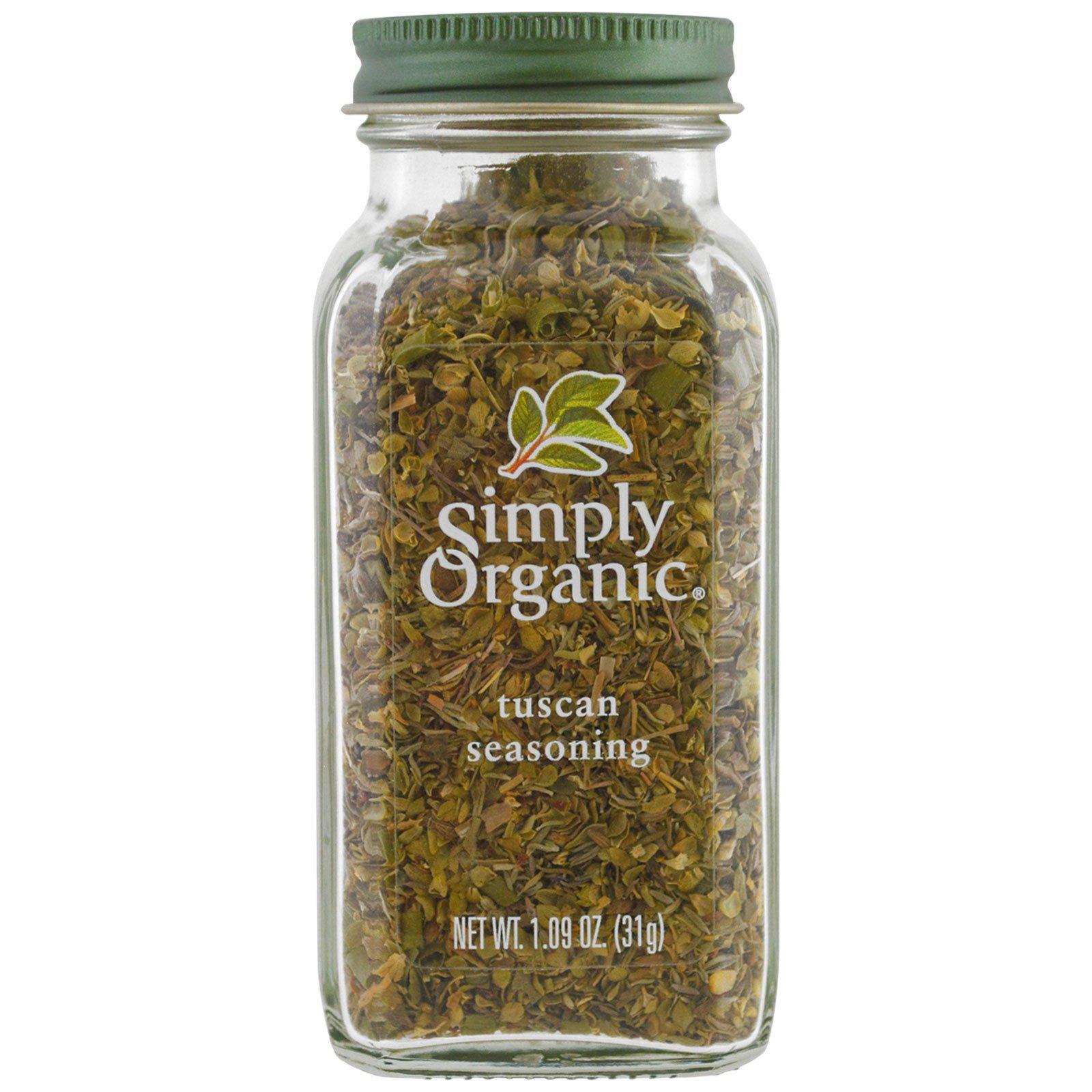 Simply Organic, Органическая тосканская приправа, 1,09 унции (31 г)