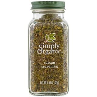 Simply Organic, Organic, Tuscan Seasoning, 1.09 oz (31 g)
