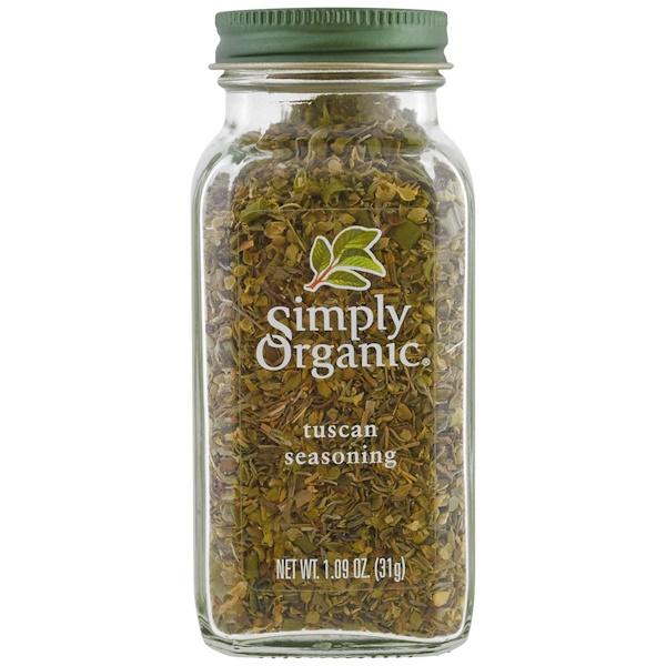 Simply Organic, Organic, Tuscan Seasoning, 1.09 oz (31 g) (Discontinued Item)