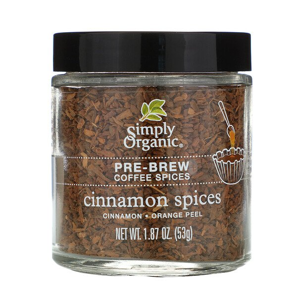 Simply Organic, Pre-Brew Coffee Spice, Cinnamon Spices, 1.87 oz (53 g)
