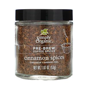 Симпли Органик, Pre-Brew Coffee Spice, Cinnamon Spices, 1.87 oz (53 g) отзывы покупателей