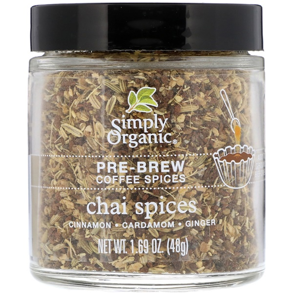 Pre-Brew Coffee Spices, Chai Spices, 1.69 oz (48 g)