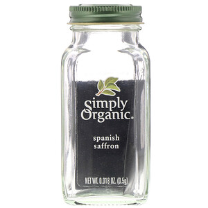 Simply Organic, Spanish Saffron, 0.018 oz (0.5 g)