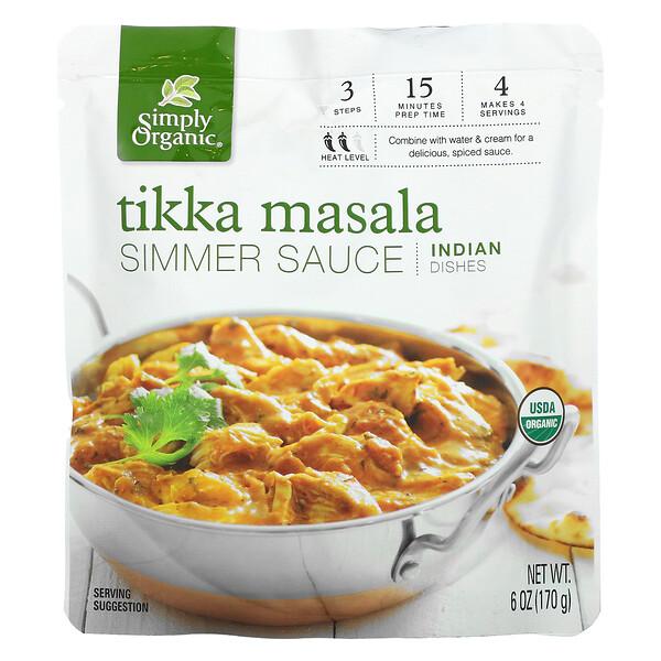 Indian Dishes, Tikka Masala Simmer Sauce, 6 oz (170 g)