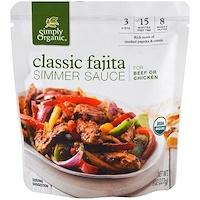 Органический соус для тушения, Классическая Фахита, для говядины и курицы, 227 г (8 oz) - фото