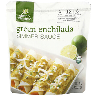 Simply Organic, 有机绿色辣肉馅玉米卷炖酱,8 盎司(227 克)