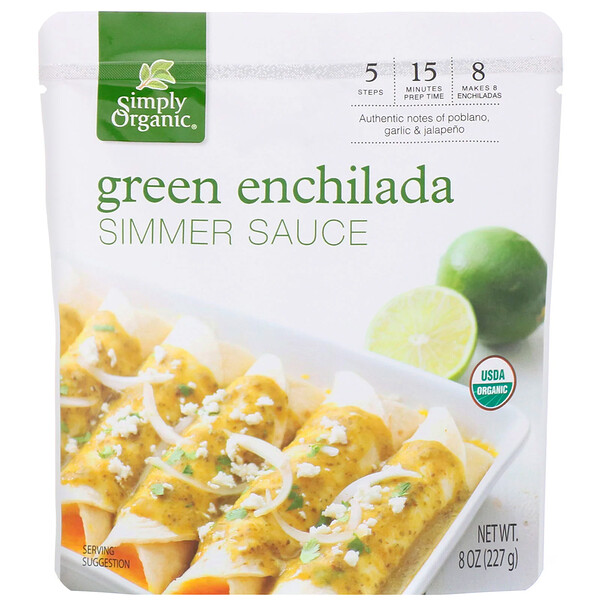 Organic  Green Enchilada Simmer Sauce,  8 oz (227 g)
