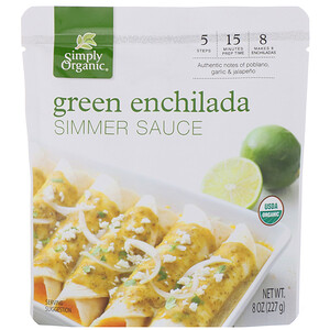 Simply Organic, オーガニックグリーンエンチラーダ煮立てソース、227g