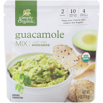 Simply Organic Organic, Guacamole Mix, 4 oz (113 g)