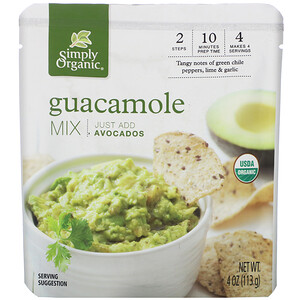 Симпли Органик, Organic Guacamole Mix, 4 oz (113 g) отзывы покупателей