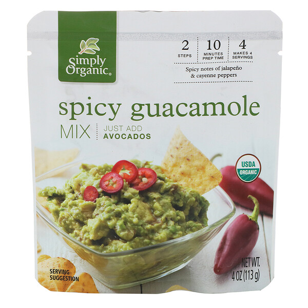 Organic Spicy Guacamole Mix, 4 oz (113 g)