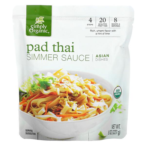 Asian Dishes, Pad Thai Simmer Sauce, 8 oz (227 g)