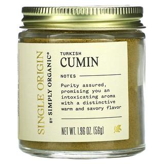 Simply Organic, Single Origin, Turkish Cumin, 1.96 oz (56 g)