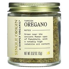 Simply Organic, 單源,土耳其牛至,0.52 盎司(15 克)