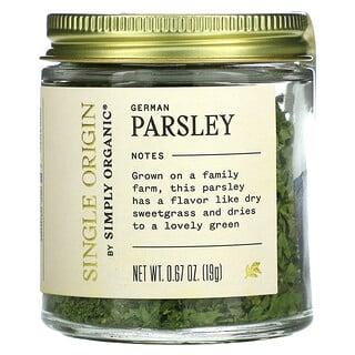 Simply Organic, Single Origin, German Parsley, 0.67 oz (19 g)