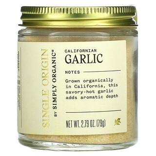 Simply Organic, Single Origin, Californian Garlic, 2.79 oz (79 g)