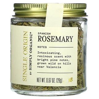 Simply Organic, Single Origin, Spanish Rosemary, 0.97 oz. (28 g)